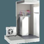 Illustration af luft-til-vand varmepumper fra Daikin