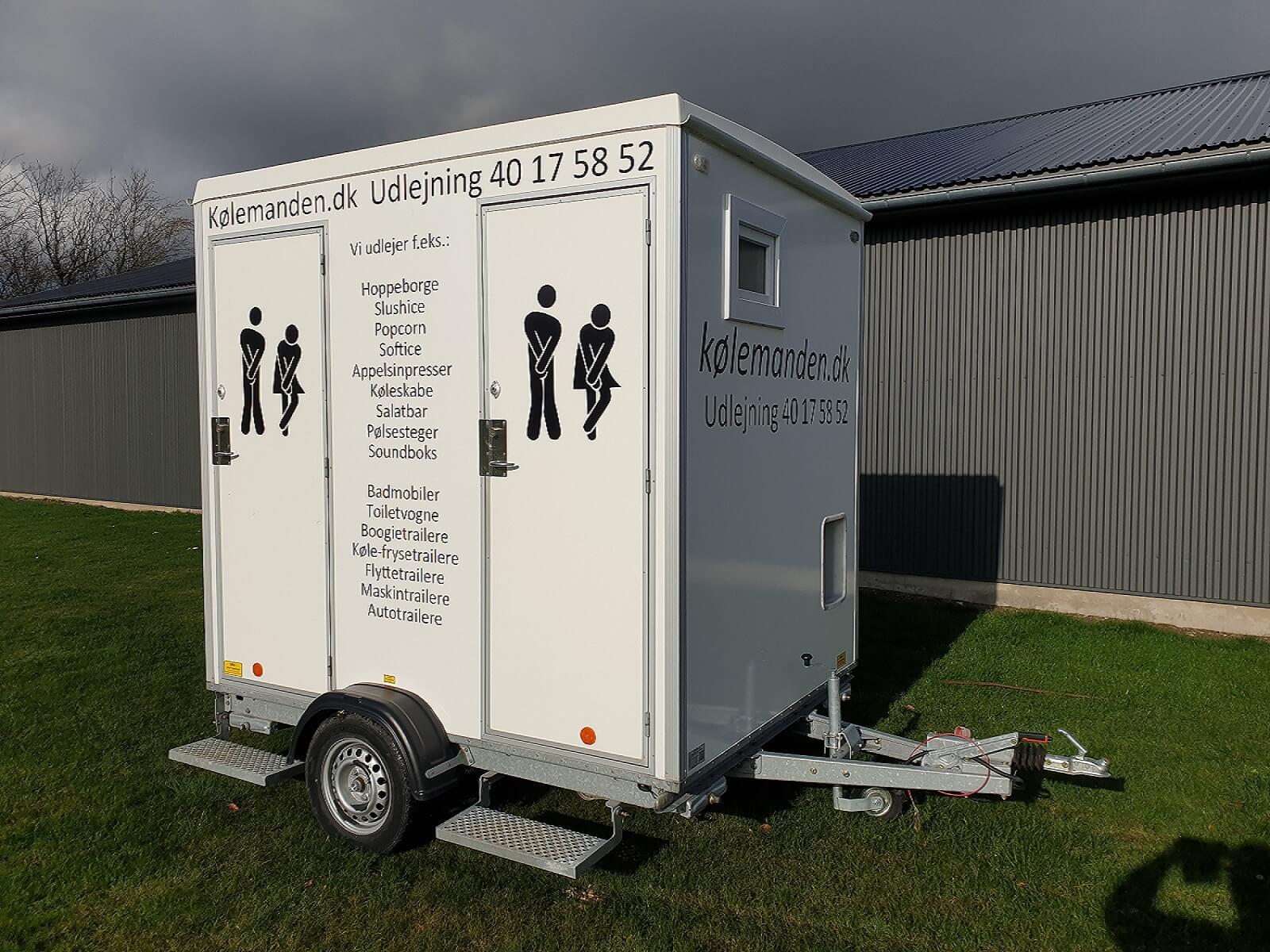 Koelemandens toiletvogn/ wc-vogn med pissoir.