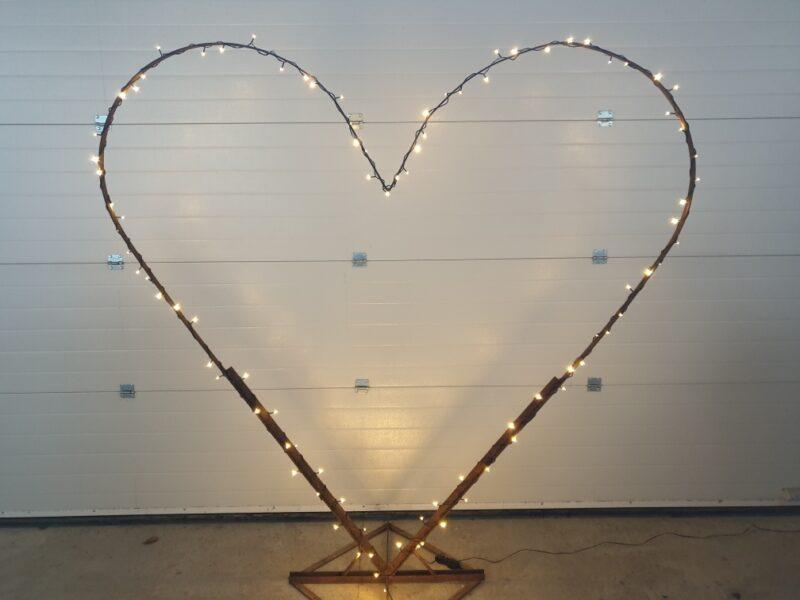 Hjerte aeresporte med lys