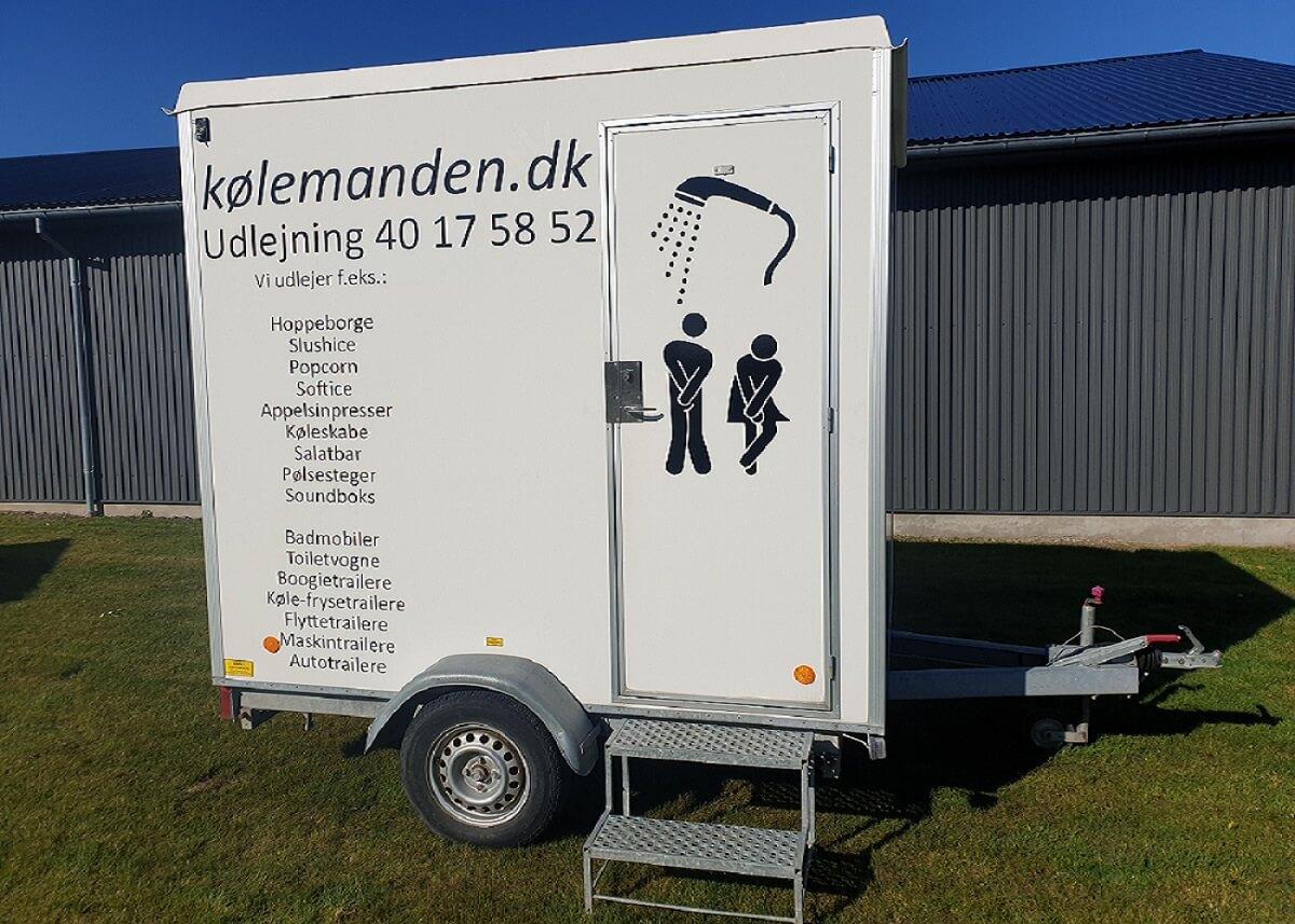 Udlejning trailere - Koelemandens badmobil.