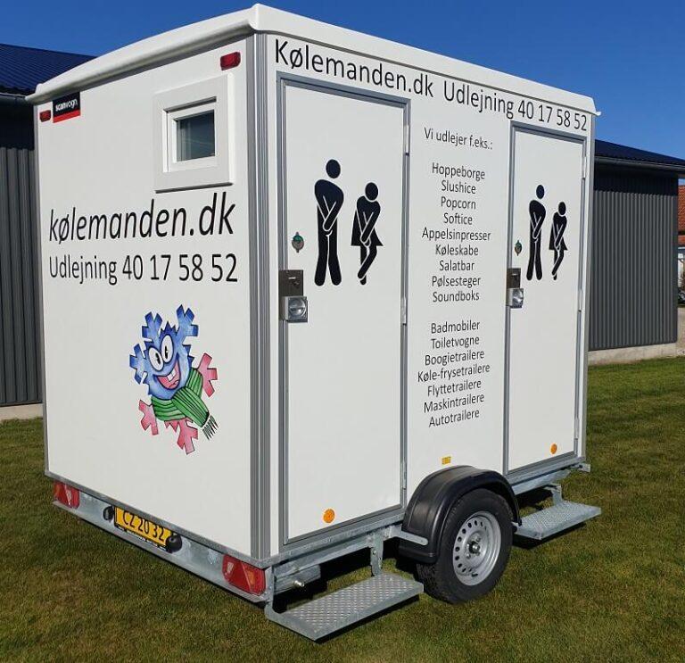 Koelemandens wc-vogne/ toiletvogne med tank.
