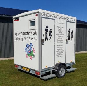 Trailer udlejning - Koelemandens wc-vogn m tank.