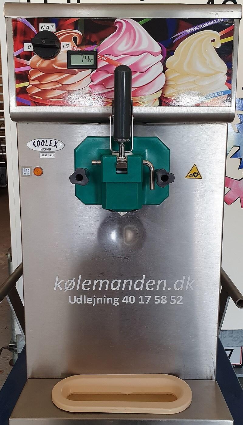 Softicemaskiner med én hane klar til udlejning hos Kølemanden