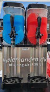 Slushicemaskine med to kamre til udlejning hos Kølemanden.
