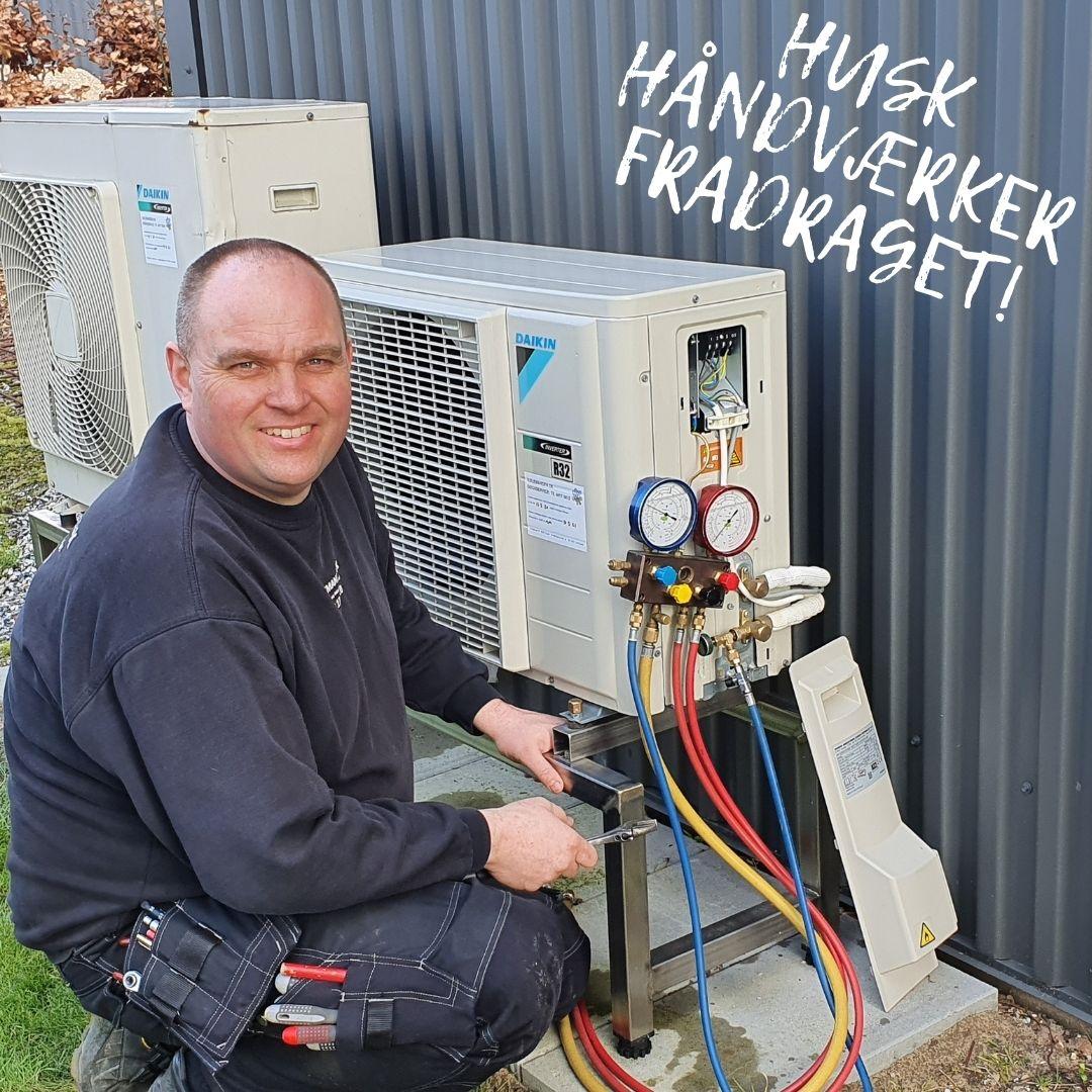 Kølemanden beder dig huske på håndværkerfradraget.