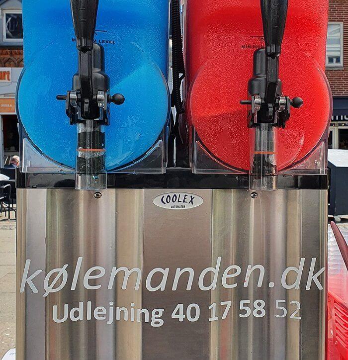 Tokamre slushicemaskine kan lejes hos Koelemanden.